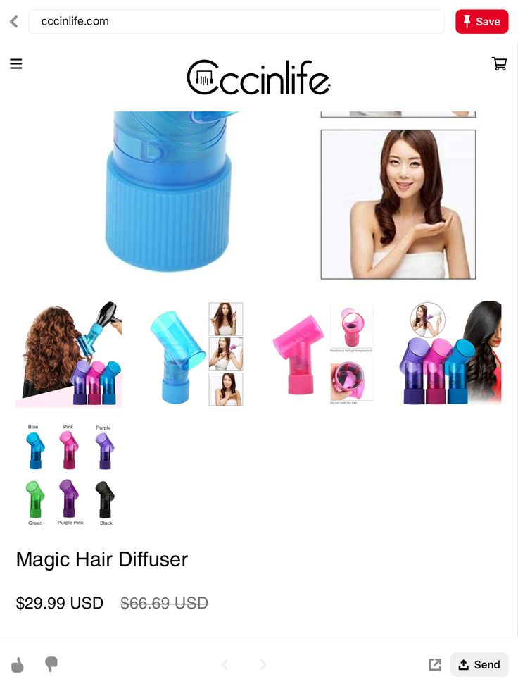 Cccinlife magic hair diffuser curl while drying dupe for