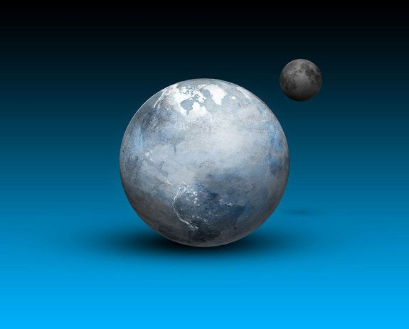 Artist's concept of a Snowball Earth. During vast ice ages millions of years…