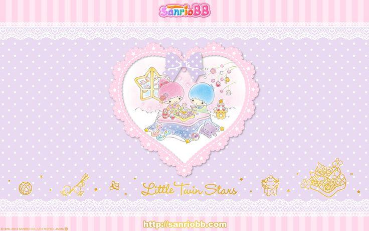 Little Twin Stars Wallpaper 2013 一月桌布 日本 SanrioBB Present