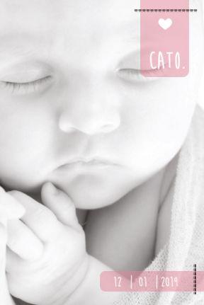 Wow! Gaaf als je zo de foto van je baby op een geboortekaartje kunt zetten. #fotokaart #babyfoto #geboortekaartje #zwart-wit