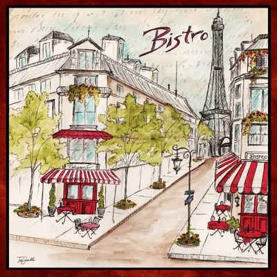 RB4596TS <br> Paris Bistro Sketch II <br> 12x12