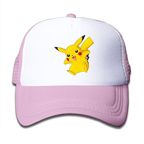 Toddler Kids Pokemon Pikachu 100% Nylon Mesh Caps One Size Fits Most Adjustable Funny Mesh Hat Pink – Pokemon Cap