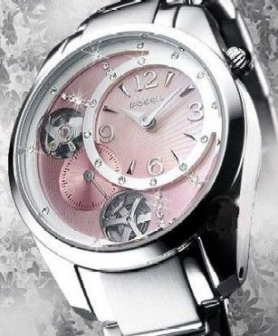 Pink fossil watch. Very cool