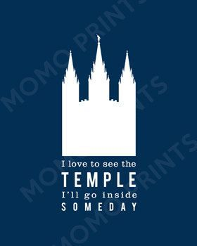 I Love to See the Temple LDS Primary Song Print by MomoPrints