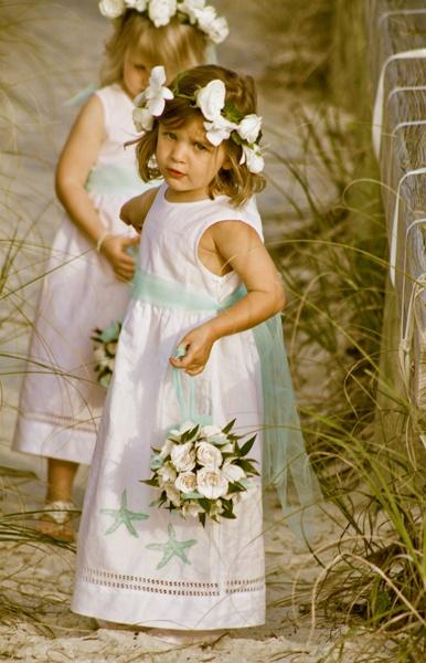 Beach Wedding Flower Girls Photography by Picturessence PhotoArt