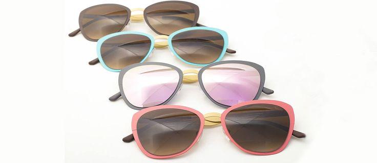 Tuffarsi in un mare di colori con i modelli in metallo satinato degli occhiali Saraghina. Sono i più eleganti della collezione estiva per una donna...