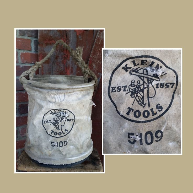 Klein 5109 Canvas Tool Bag. Canvas bag, tool bag, utility bag, klein tools, electrical tool bag, lineman's bag, toolbag, tool storage by LoveTheJunk on Etsy