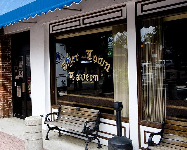 Tiger Town Tavern is a local bar in downtown Clemson, where once you turn 21 on your birthday you get a free t-shirt saying that you are now legal to drink