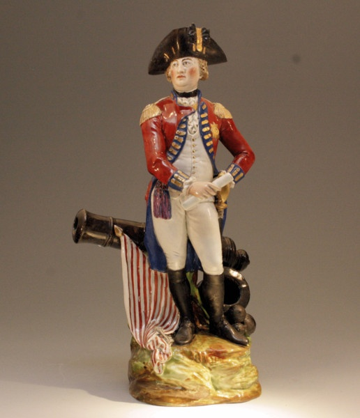 King George 111 Staffordshire pearlware figure by Pierre ...