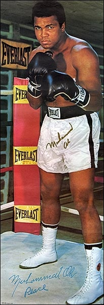Muhammad Ali Everlast brand promotional poster.