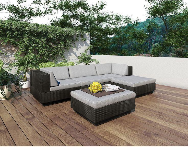 Outdoor Furniture   Park Terrace 5 Piece Patio Set U2013 Black