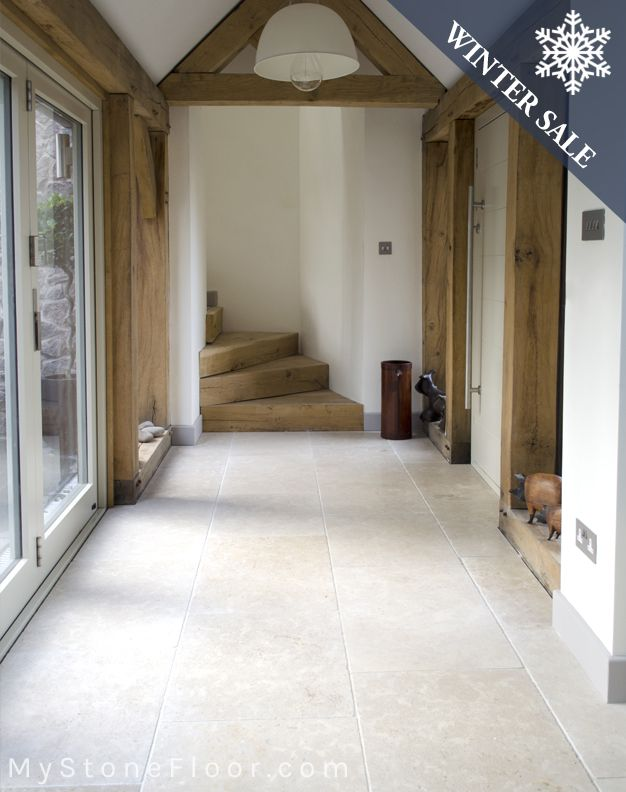 Dijon Tumbled limestone tiles - beautiful minerals and fossils in our Dijon limestone wall & floor tiles. Order your free sample of Dijon tumbled limestone.