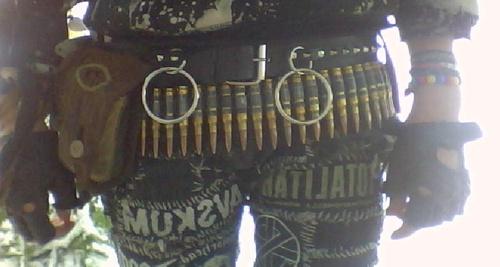 Crust punk, bullet belt, bondage belt