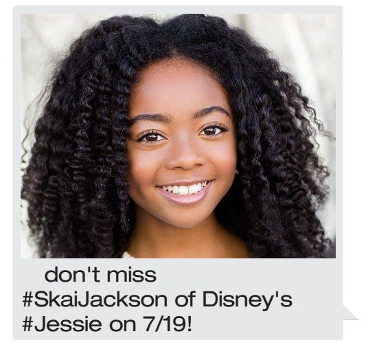 On Sunday, July 19 meet Skai Jackson who plays Zuri on Disney's Jessie and the brand new show Bunk'd! Meet & Greet will be from 1-4pm in Dick's Sporting Goods Court.