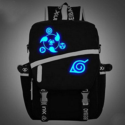 Camplayco Naruto Logo Luminous Schoolbag Backpack Bag Cosplay Buy Now Amzn
