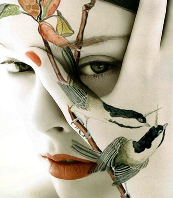 LOVE ImagineStudio's work.  Fine Art Print, Giclee Archival Print, Photomontage, Collage, Painted Photographs, COUCOU....I see you...
