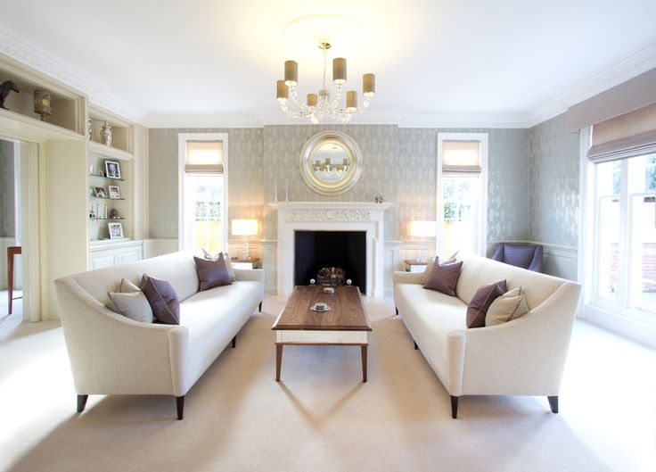 Sofas by The Sofa and Chair Company | Stylish and elegant handcrafted furniture in this living room | more inspiring images at http://diningandlivingroom.com/