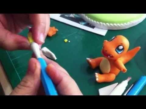 Abby Guillergan makes a Gum paste Charmander - YouTube