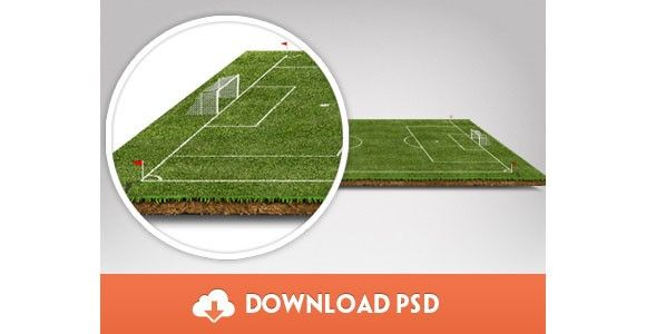 Football Pitch PSD