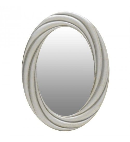 POLYRESIN WALL MIRROR IN CHAMPAGNE 55_5X3X76