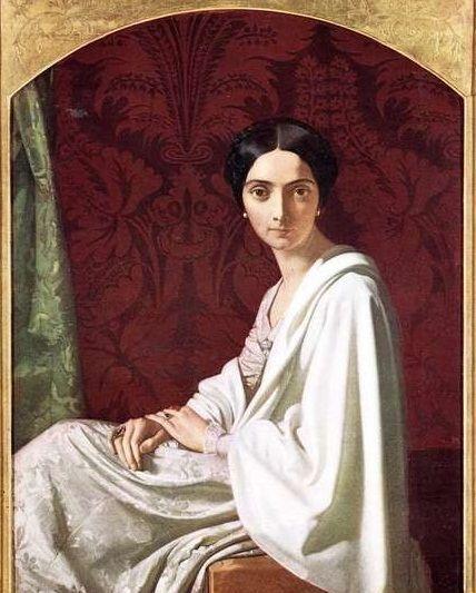 Cristina Trivulzio Belgiojoso by Henri Lehmann. 1842