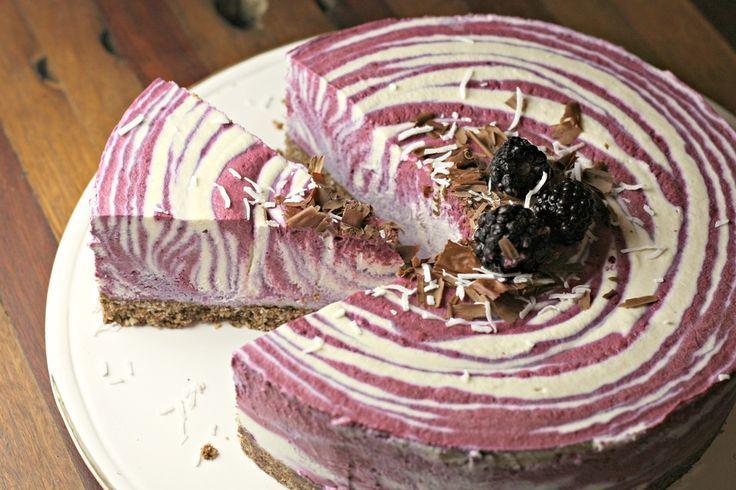 raw + vegan blackberry coconut cheesecake via Health Yeah!