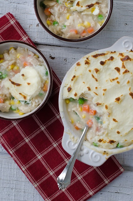 Turkey Shepherd's Pot Pie with Leftover Mashed Potatoes