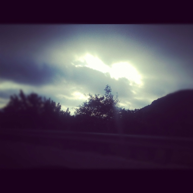 On the way to Garner State Park , the #clouds look like a #heart in the #sky . It's so #mesmerizing <3
