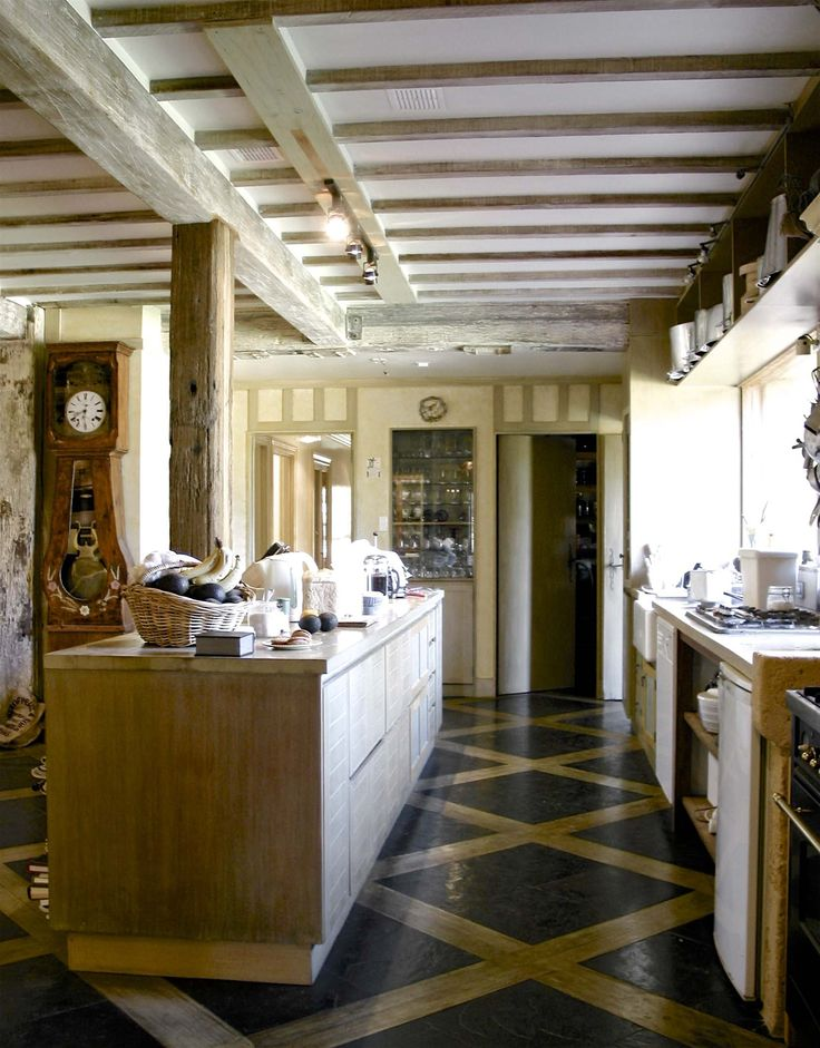 French provincial kitchen with graphic floor - French provincial style in Sydney, Australia