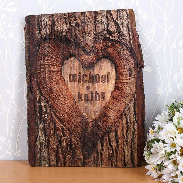 Gm Wohndesign: Personalisierbarer Baumstamm Aus Holz