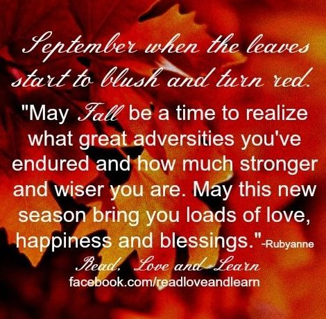 Fall Quote Via Www.Facebook.com/ReadLoveandLearn