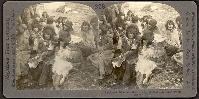 Collections Search Center, Smithsonian Institution. Selk'nam (Ona). Near Punta Arenas, 1920.