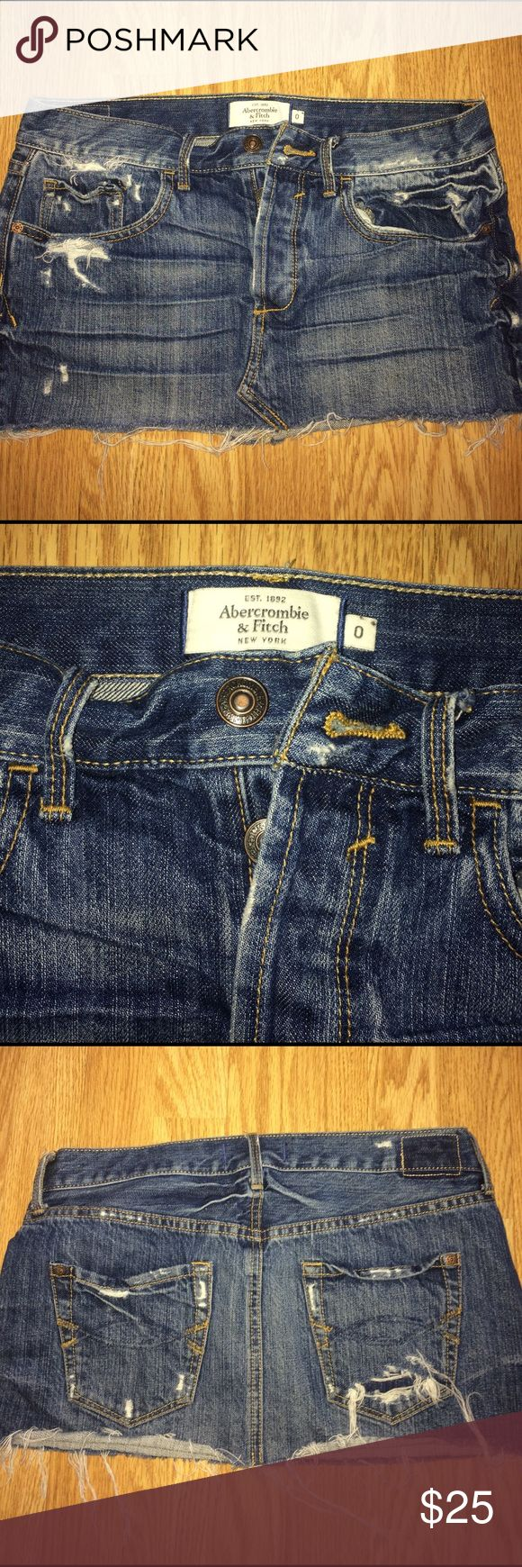 Skirt Abercrombie & Fitch jean skirt Abercrombie & Fitch Skirts
