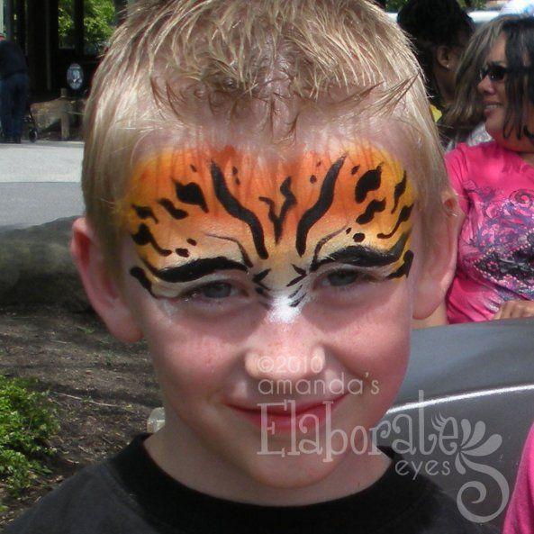 DIY Tiger Face Paint