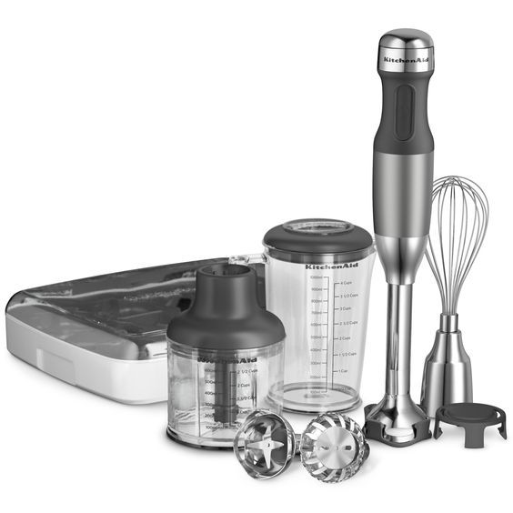 Amazon.com: KitchenAid KHB2351CU 3-Speed Hand Blender – Contour Silver: Electric Hand Blenders: Kitchen