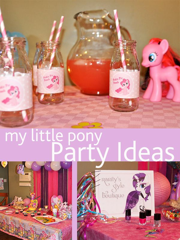 "Clever Ideas for an Easy ""My Little Pony"" Party"