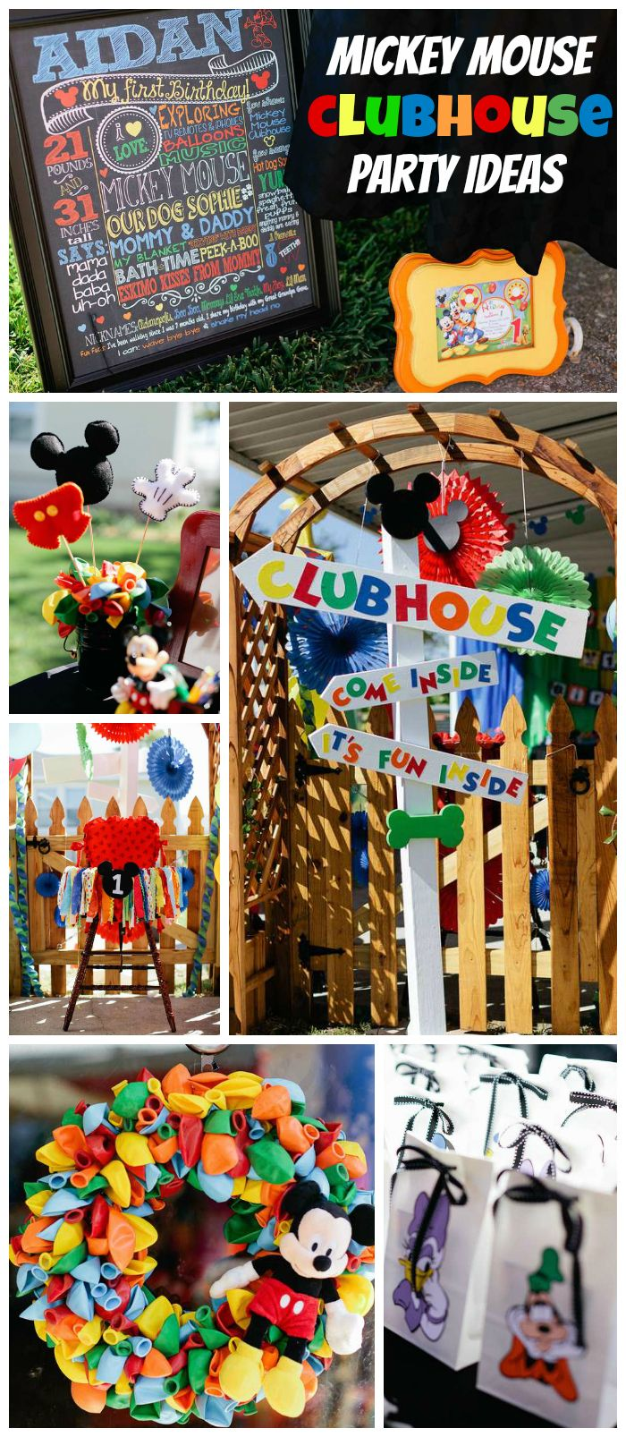 A Mickey Mouse Clubhouse birthday party with a Hot Diggity Dog Bar, Donald's silly chili and Daisy's dessert table!  See more party planning ideas at CatchMyParty.com!