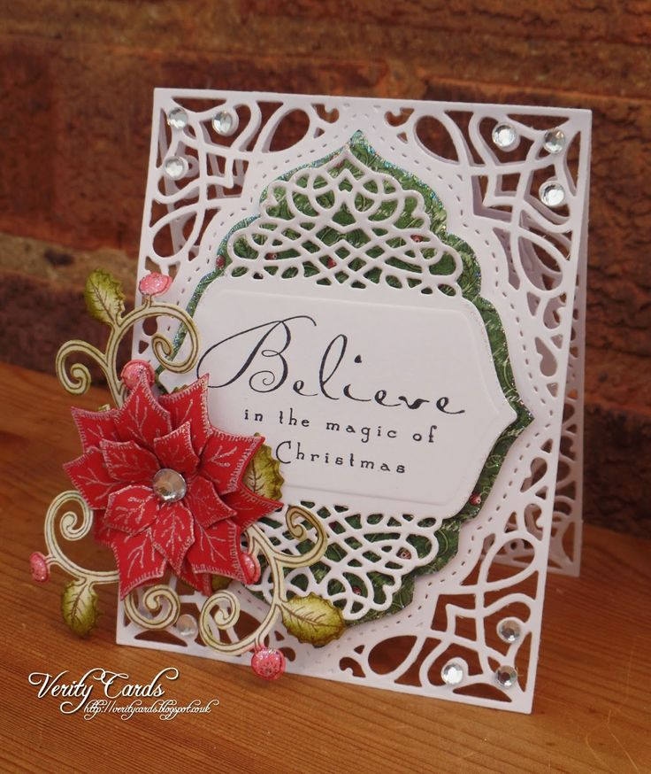 Greeting Card Making Ideas Videos Part - 25: Verity Cards: Believe In The Magic Of Christmas Tranquil Moments Die