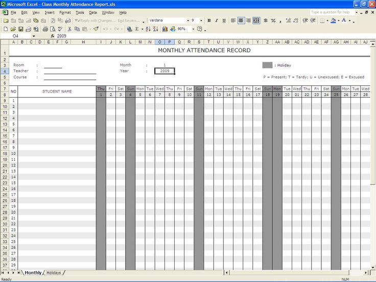 attendance record template | Student Attendance Record | Excel Templates