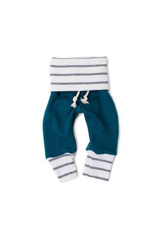 Skinny sweats in 'peacock' #childhoodsclothing