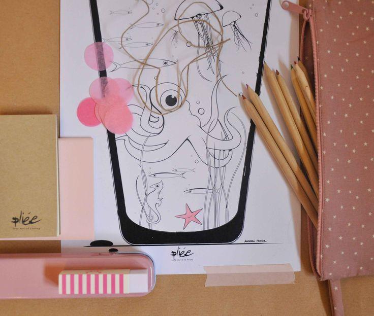 colorare non è mai banale, sviluppa la fantasia e l'immaginazione #plieelifestyle www.pliee.com/categoria-prodotto/disegnando/