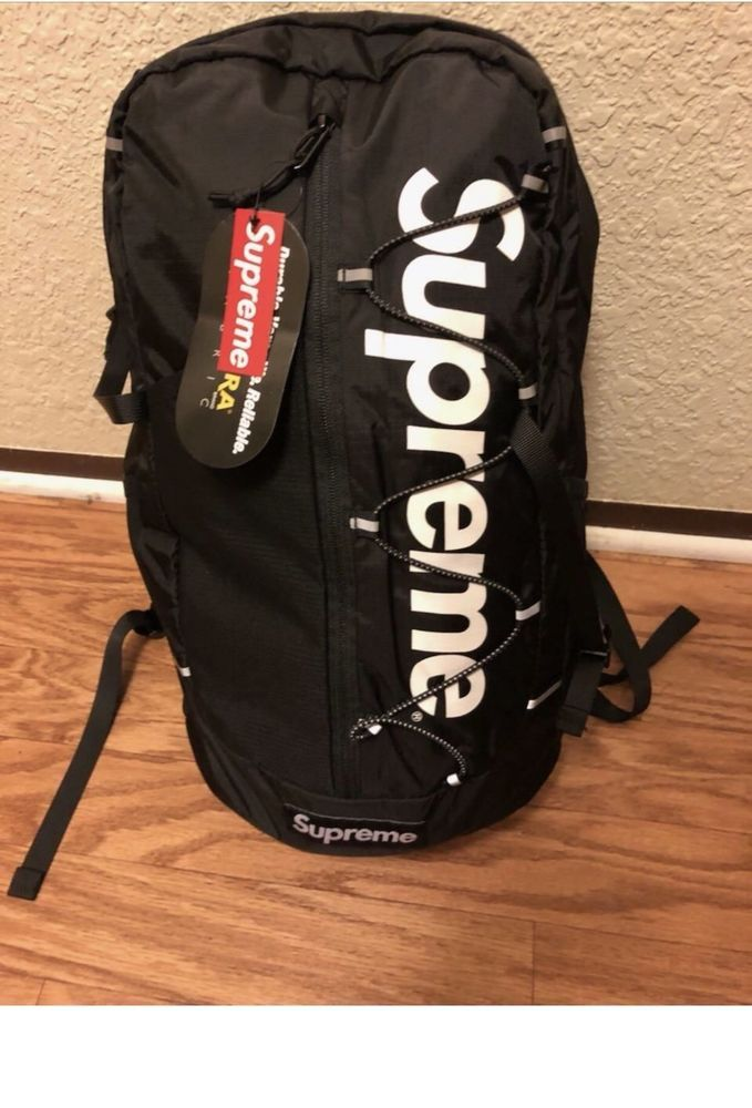 25e2d9ae3ed Supreme ss17 Backpack Black Box logo #fashion #clothing #shoes #accessories  #mensaccessories #bags (ebay link)