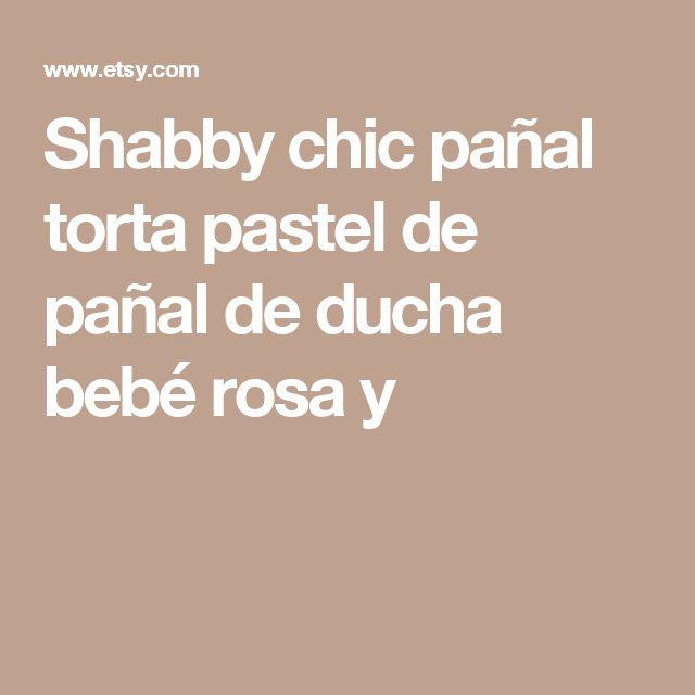 Shabby chic pañal torta pastel de pañal de ducha bebé rosa y