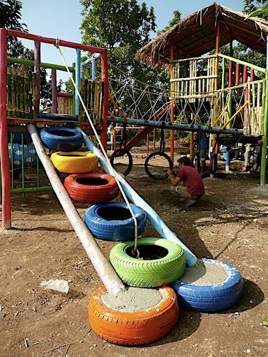 258 best images about used tires car parts ways to for Tire play structure