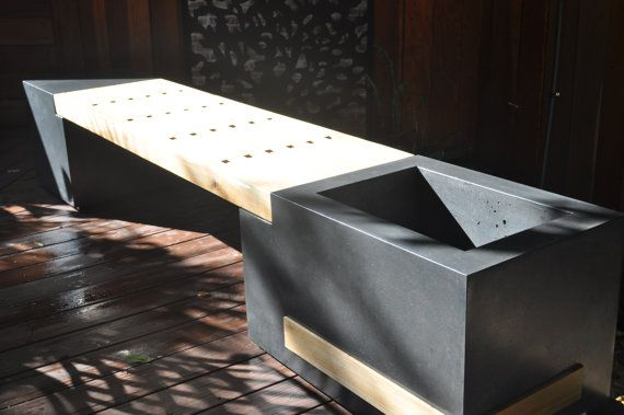 Concrete Planter Bench by stogsconcretedesign on Etsy, $3000.00