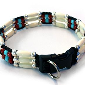 Southwestern Beaded Zuni Dog Collar