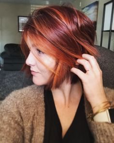 LOVE these reds. ❤️ redhead. Short bob. Red hair.