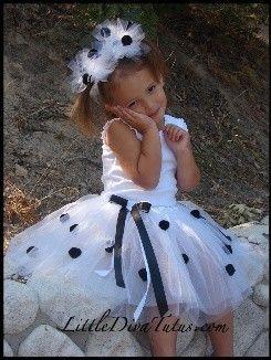 DALMATIAN TUTU with MATCHING ears  dalmatian tutu dalmation costume  photography props  baby costumes  halloween costumes