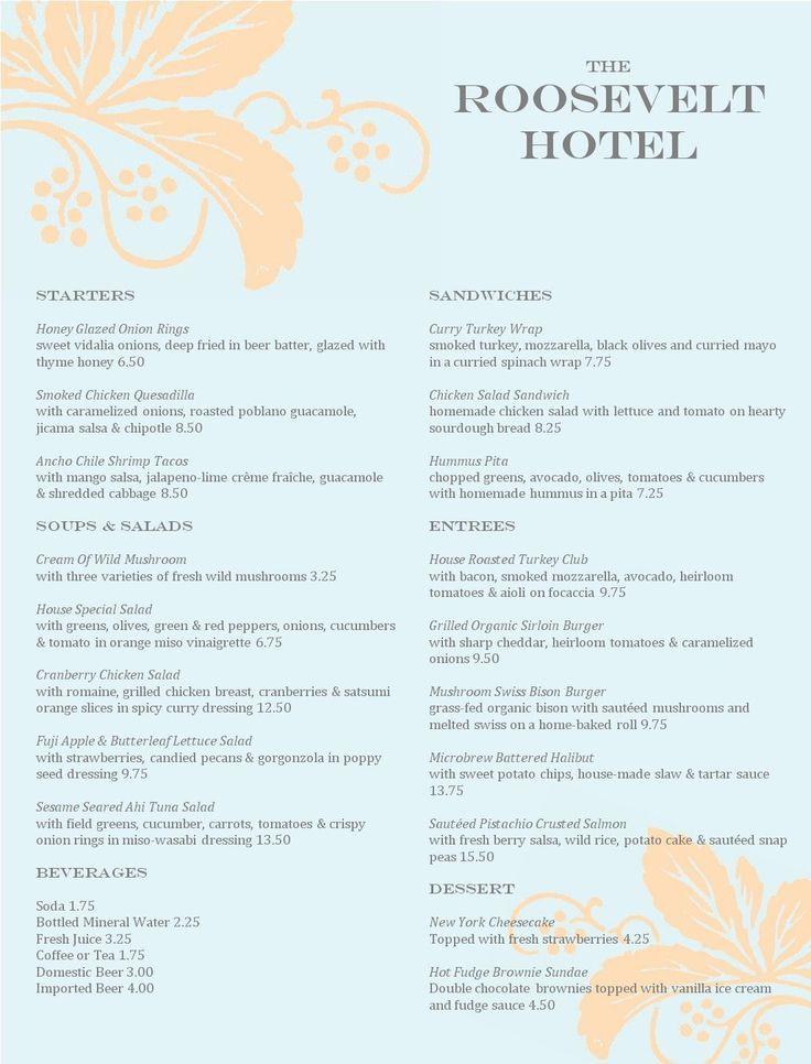 21 best Menu Design images on Pinterest Restaurant menu design - cocktail menu template free download