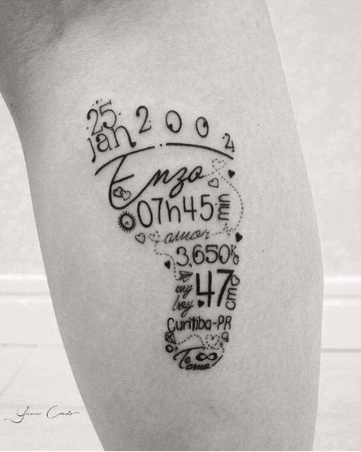 À pied pour chaque enfant Pas de tatouages mais ce serait super mignon imprimé après …   – Martin